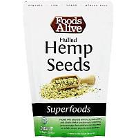 Foods Alive, Суперпродукты, семя конопли без шелухи, 8 унций (227 г)