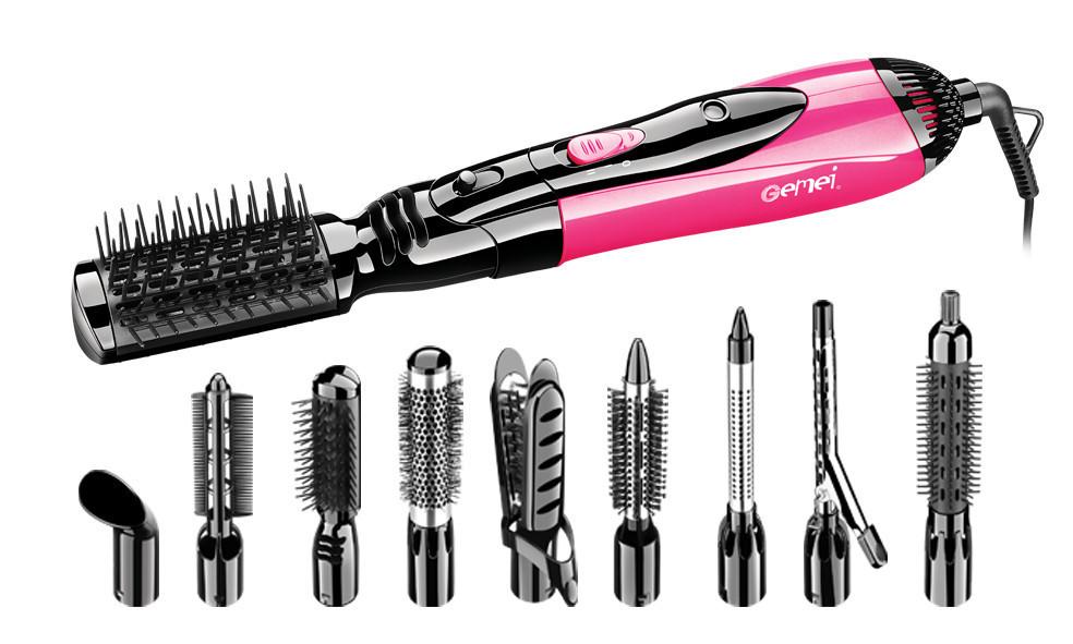 Фен-щетка Gemei GM-4835 10 в 1 1000W Pink (4641) #S/O