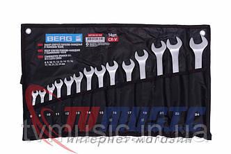 Набор ключей рожково-накидных Berg 48-968 Cr-V (14 шт.)