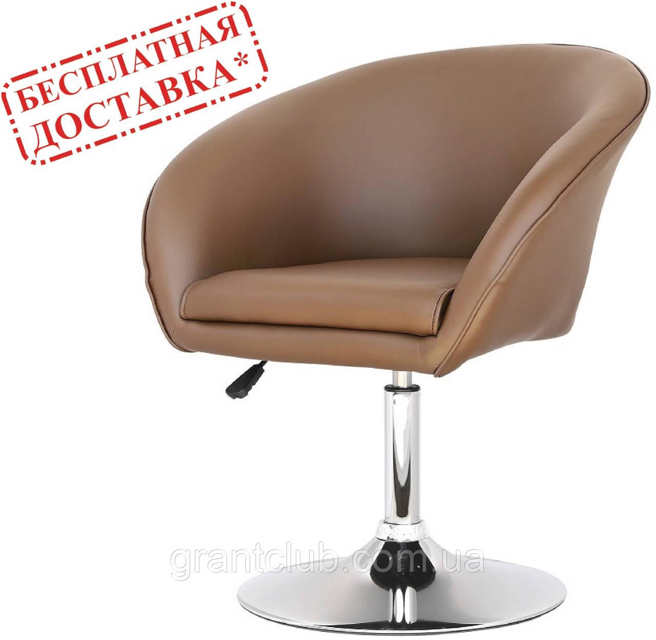 Кресло парикмахерское Мурат Нью  коричневое экокожа СДМ группа