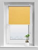Рулонные шторы блэкаут Термо Сильвер 058 бледно-желтый цвет