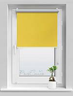Рулонные шторы блэкаут Термо Сильвер 059 желтый цвет