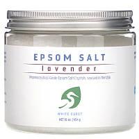 White Egret Personal Care, Epsom Salt, Epsom Salt Соль для ванны Лаванда (454 g)