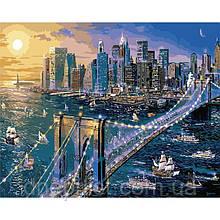 """Картина по номерам """"Большое яблоко - Нью-Йорк"""", 40х50 см, 5*"""