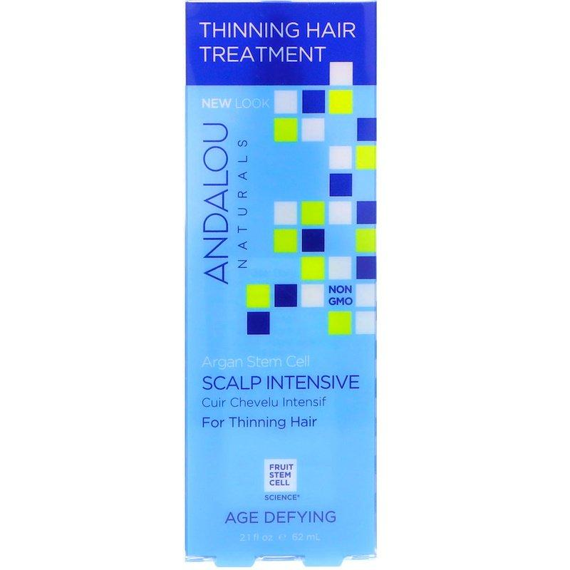 Andalou Naturals, Стовбурові клітини арганії, інтенсивний догляд за шкірою голови і рідким волоссям, антивіковий 62 мл (2,1 рідкої унції)