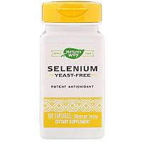 Nature's Way, Селен (в форме L-селенометионина) 200 мкг, 100 капсул