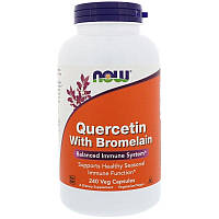 Now Foods, Кверцетин с бромелаином, 240 растительных капсул