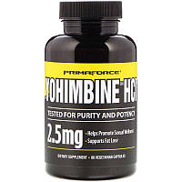 Primaforce, Yohimbine HCl, 2,5 мг, 90 вегетарианских капсул