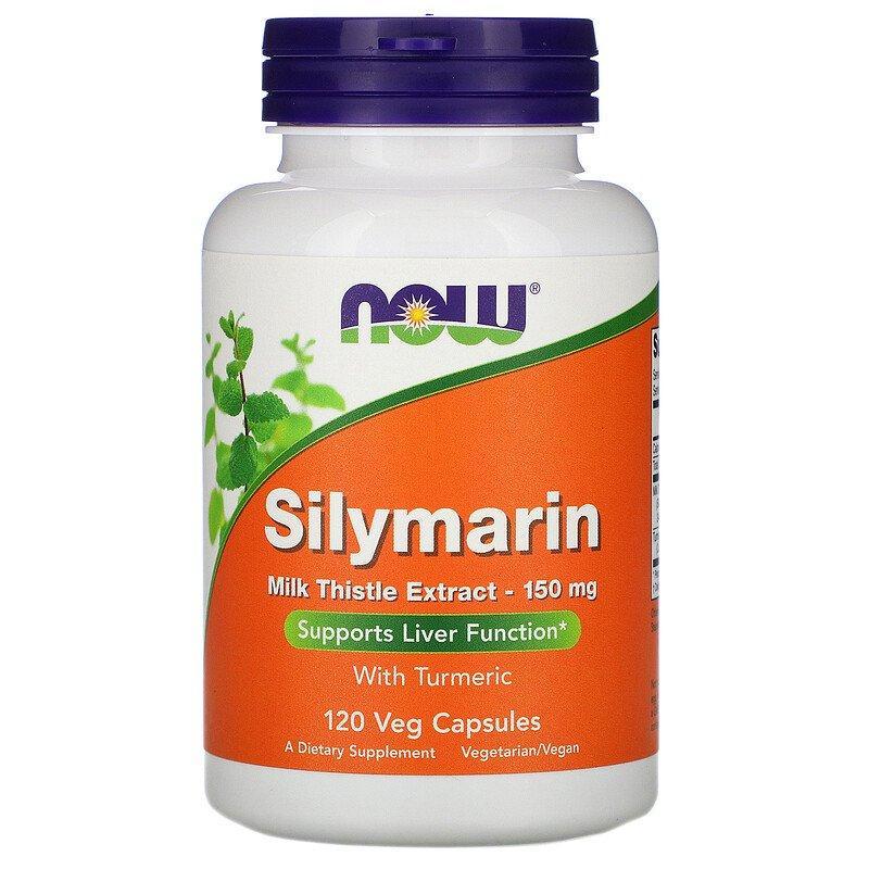 Now Foods, Silymarin, Силімарин, екстракт розторопші, 150 мг, 120 капсул