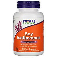 Now Foods, Изофлавоны сои, (Генистеин, даидзеин и глицитеин) 120 растительных капсул