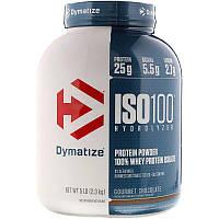Dymatize Nutrition,Гидролизированный 100% сывороточный изолят ,протеина, гурманский шоколад, 2,3 кг