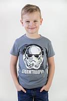 Детская футболка для мальчика ( цвет: черный, серый, белый)