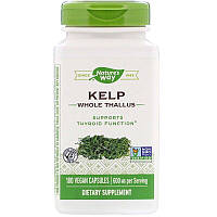 Nature's Way, Kelp, Whole Thallus, 600 mg, 180 Vegan Capsules