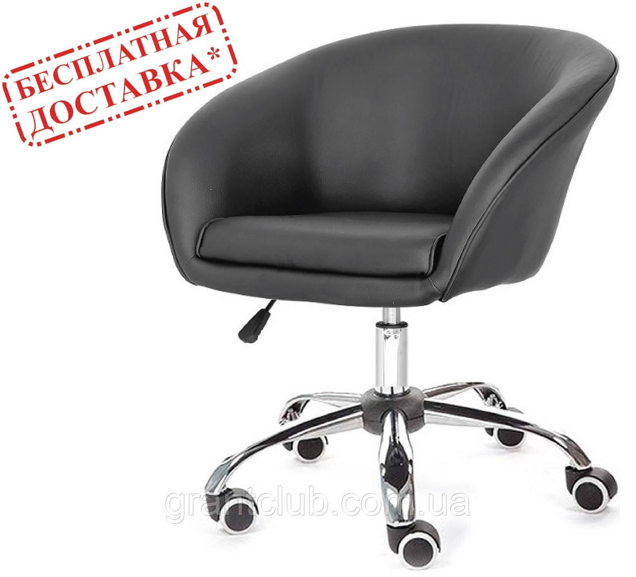 Кресло Мурат К черная экокожа на колесах СДМ группа (бесплатная доставка)