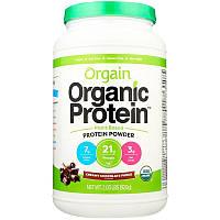 Orgain, Органический порошковый протеин растительного происхождения, сливочно-шоколадный фадж, 2,03 ф (920 г)