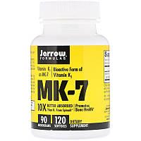 Jarrow Formulas, MK-7, витаминK2 в форме MK-7, 90мкг, 120мягких таблеток