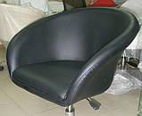 Кресло Мурат К черная экокожа на колесах СДМ группа (бесплатная доставка), фото 2