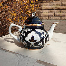 "Чайник фарфоровый ""ПАХТА"" 800 мл. Узбекистан"