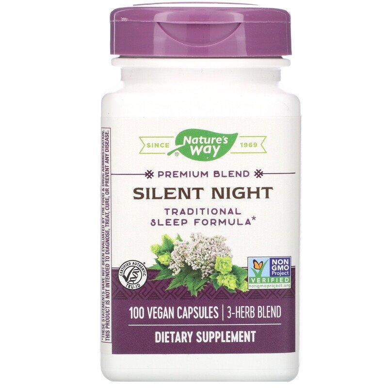 Nature's Way, Silent Night, ихая ніч, для сну, 100 капсул веганских