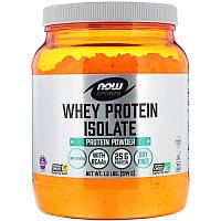 Now Foods, Sports, изолят сывороточного протеина, без добавок, 544 г