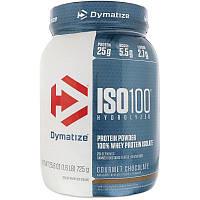 Dymatize Nutrition, Гидролизация ISO 100, 100% изолят сывороточного белка, изысканный шоколад, 1,6 фунта (725 г)