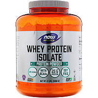 Now Foods, Sports, изолят сывороточного протеина, без ароматизаторов, (2268 г)
