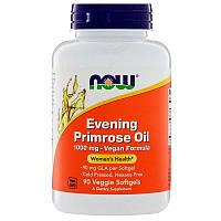 Now Foods, Evening Primrose Oil, Масло вечерней примулы, 1000 мг, 90 растительных капсул