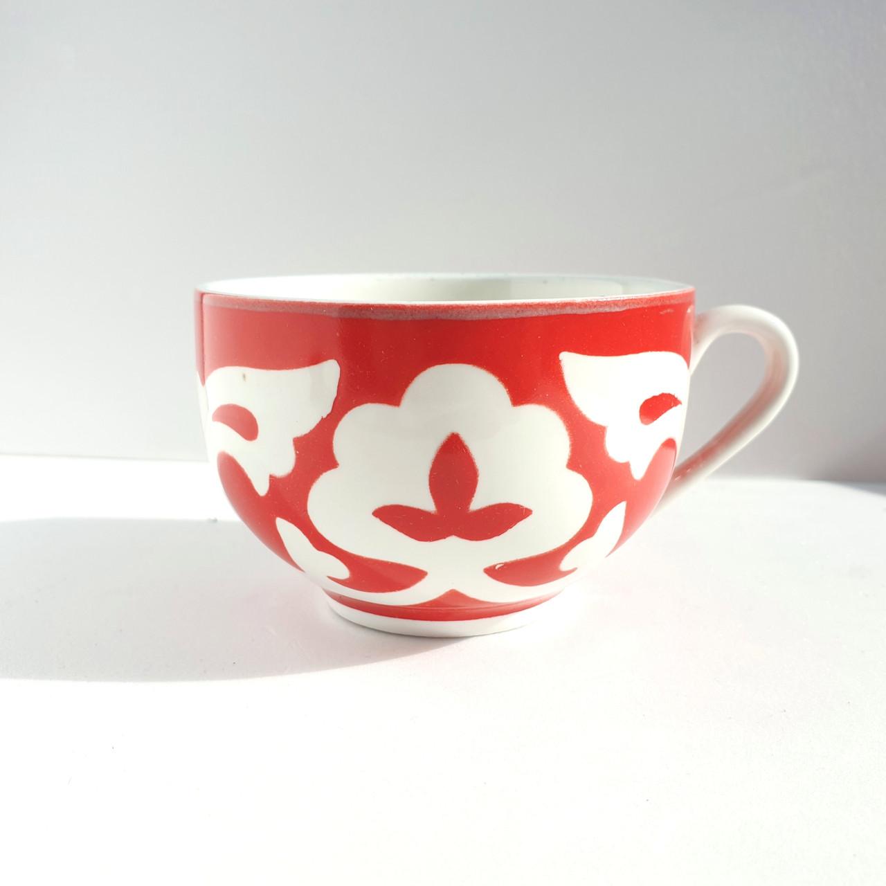 "Чашка ""ПАХТА"" 250 мл красная. Узбекистан"