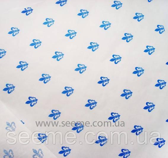 "Бумага белая  для упаковки  ""L'Amour-blue""."