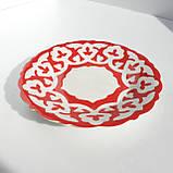 "Тарелка десертная ""ПАХТА"" красная d 16 см красная. Узбекистан, фото 2"