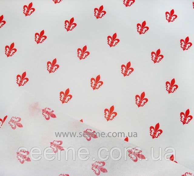 "Бумага белая  для упаковки  ""L'Amour-red""."