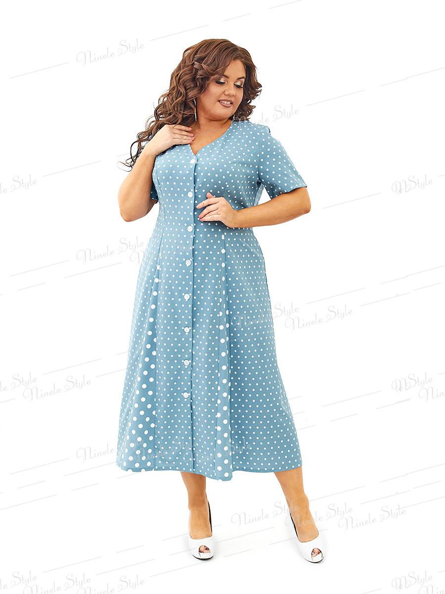 Повседневное платье в горох 431-2 54