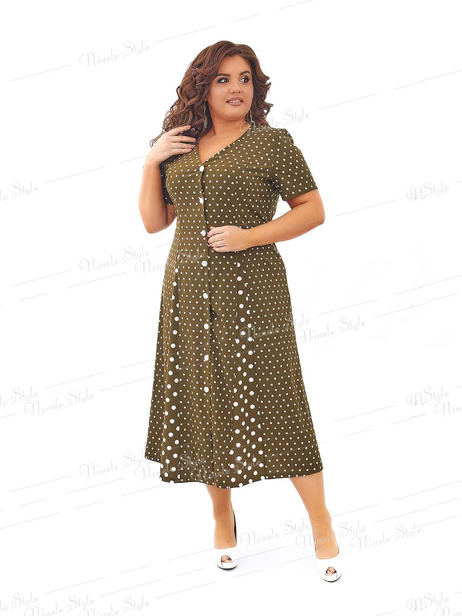 Повседневное платье в горох 431-1 54
