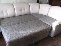 Перетяжка углового дивана + кресла