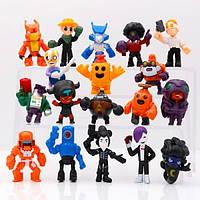 Огромный игровой набор Бравл Старс (18 любимых героев) - фигурки новых персонажей игры , игрушки Brawl Stars (арт 8422).