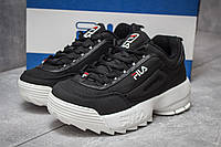 Кроссовки женские Fila Disruptor 2, Фила черные, жіночі кросівки