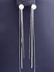 Серьги женские бижутерия с камнями майорка XUPING