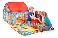 """Игровая палатка Pop-it-Up """"Интернет-Магазин"""" 90х90х90см с игровым ковриком 100х100см"""