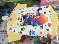 Модная детская футболка для девочки likee размер 104 110 116