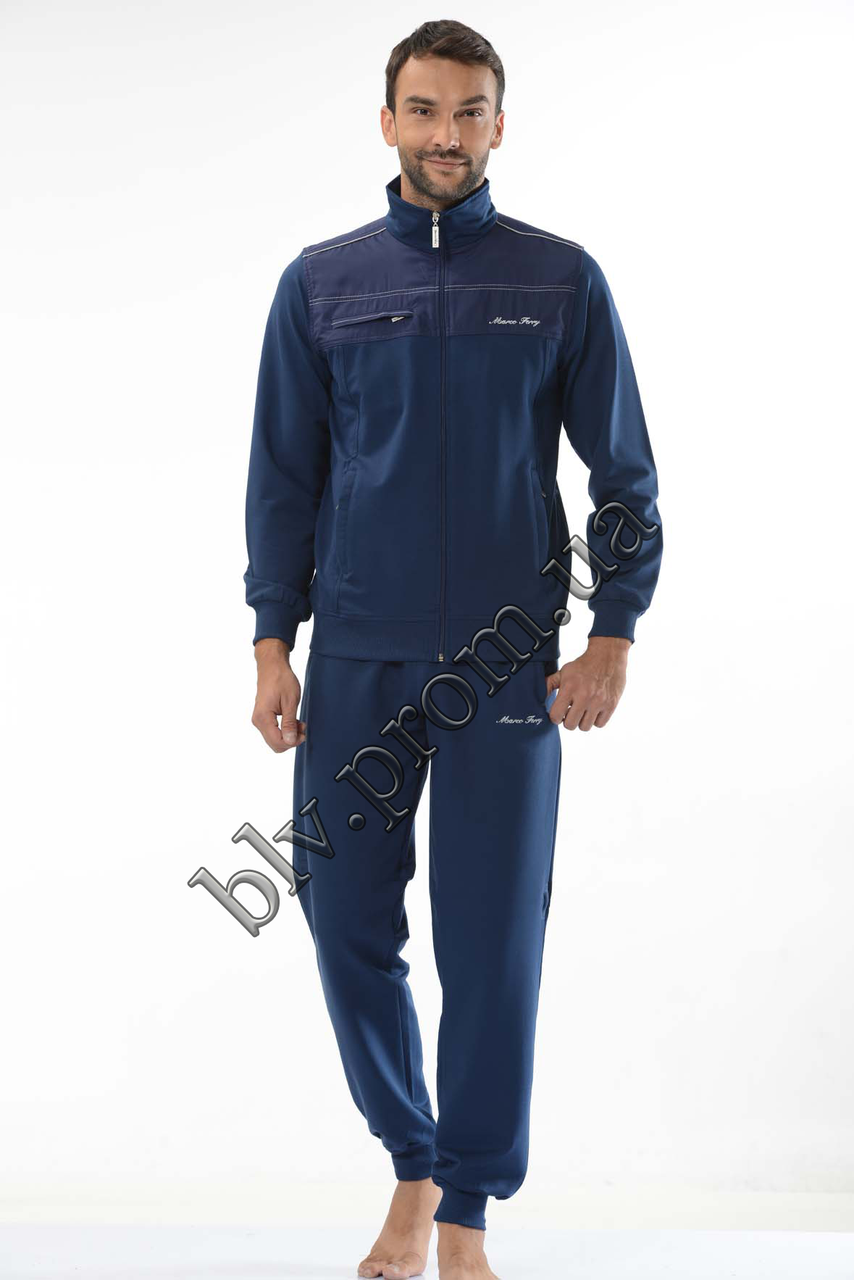 087c38719bb6 Трикотажный мужской спортивный костюм пр-во Турция FM14669 Dark blue оптом  и в розницу, ...