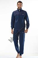 Трикотажный мужской спортивный костюм пр-во Турция FM14669 Dark blue