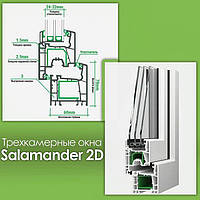 """Salamander 2D"" (Саламандра) окна пластиковые., фото 1"
