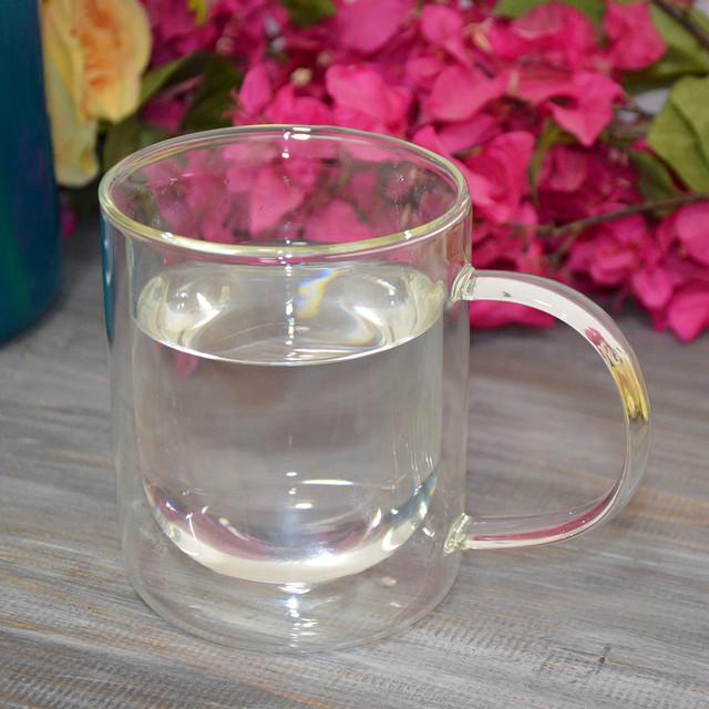 """Стеклянная чашка """"Jacobs"""" с двойной стенкой (фото)"""