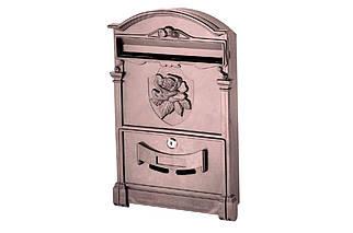 Почтовый ящик Vita - роза (коричневый) (PO-0019), (Оригинал)