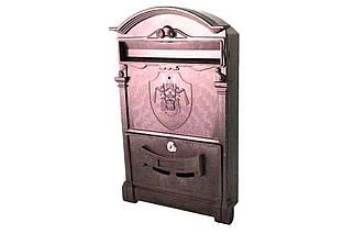 Почтовый ящик Vita - герб Англии (коричневый) (PO-0015), (Оригинал)