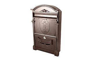 Почтовый ящик Vita - герб льва (коричневый) (PO-0017), (Оригинал)