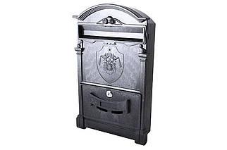 Почтовый ящик Vita - герб Англии (черный) (PO-0003), (Оригинал)