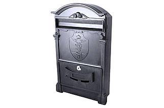 Почтовый ящик Vita - герб льва (черный) (PO-0014), (Оригинал)