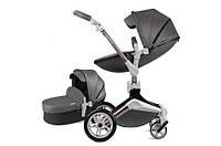 Универсальная коляска 2в1 Hot Mom 2020 Темно-серая (h8klma)