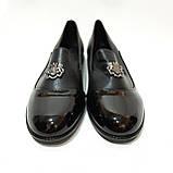 Жіночі туфлі весняні відкриті молодіжні з лаковим носком красиві модні, фото 2